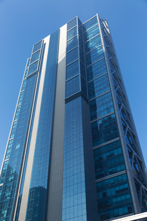 Vue de dessous du gratte-ciel Banque d'images