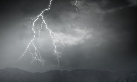 Dramatic thunder background Stock Photo