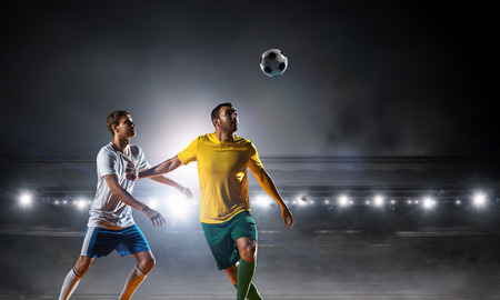 Soccer best moments. Mixed media Stock Photo - 100475597