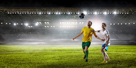 Soccer best moments. Mixed media Stok Fotoğraf