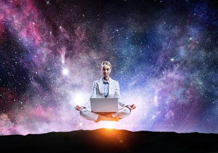 Finding inner balance Standard-Bild