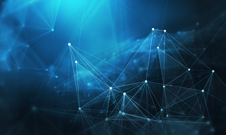 Abstract background image with connection lines and dots. 3d rendering