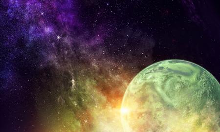 Mercury planet in dark sky background