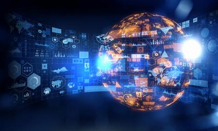 Futuristische virtuelle Schnittstelle