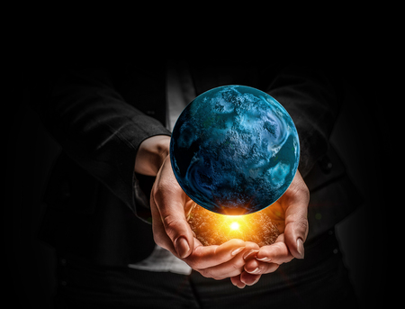 Idee van de schepping van de aarde Stockfoto