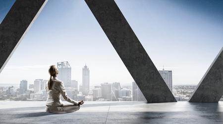 Trying to find balance. Mixed media Фото со стока
