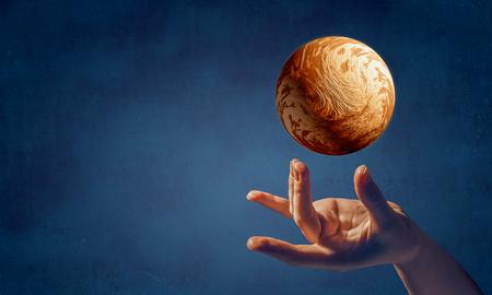 Venus planet in hand