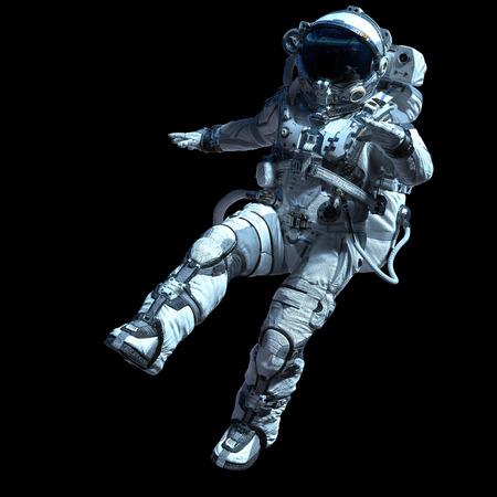 Astronaut in darkness. Mixed media Standard-Bild