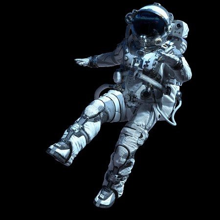 Astronauta nell'oscurità. Tecnica mista