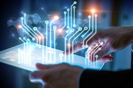 Circuit scheme as concept 免版税图像
