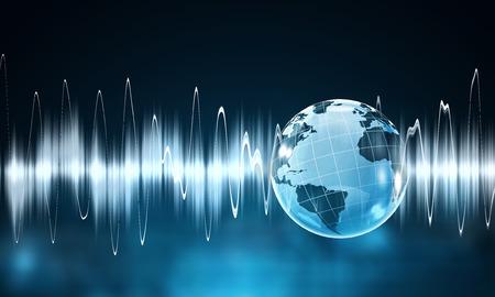 Technology of sound Stock Photo
