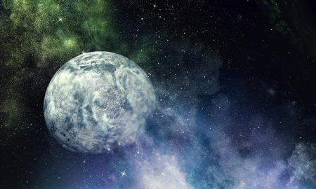 Planeta Plutón. Técnica mixta Foto de archivo