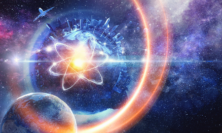 Astronomy concept backdrop Stock Photo