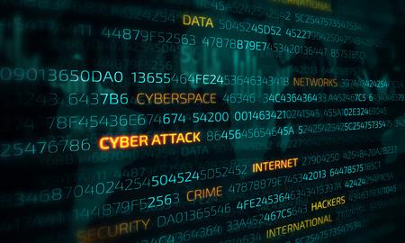 Computer hacking concept 写真素材