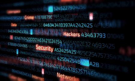 Computer hacking concept Stock Photo