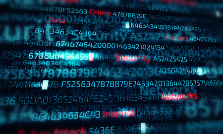 Computer hacking concept Banco de Imagens