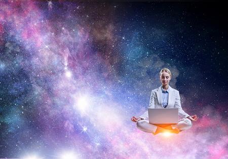 Finding inner balance Stock Photo