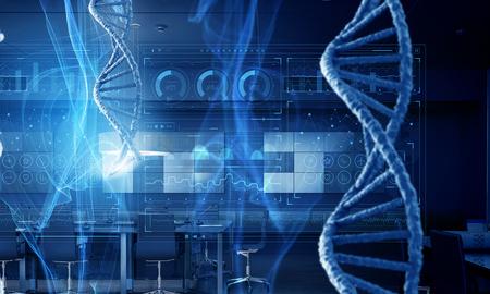 Concepto de fondo de biotecnología
