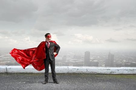 Strong and powerful as super hero . Mixed media 版權商用圖片