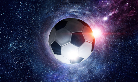 Soccer ball in cosmos