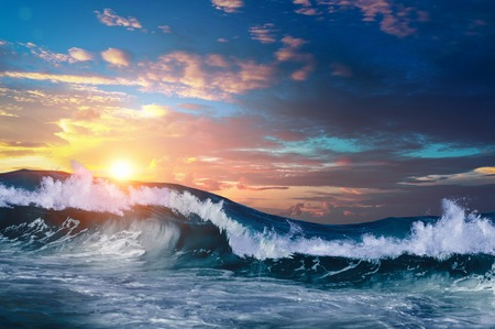 Stormachtig zeeweer