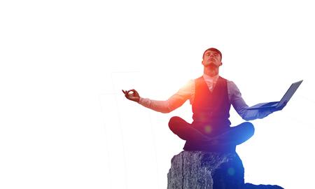 Finding inner balance. Mixed media Stockfoto