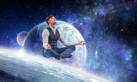 Finding inner balance Reklamní fotografie
