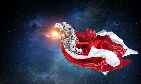 Spaceman on mission. Mixed media Reklamní fotografie