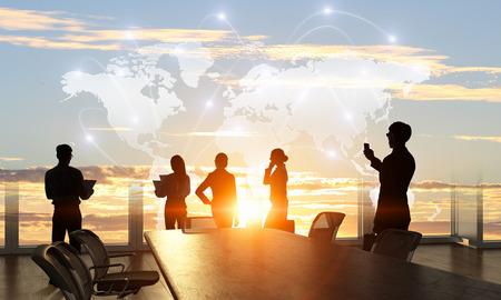 Business-Teamwork-Konzept. Gemischte Medien Standard-Bild