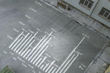 Concept of business statistics. Mixed media Banco de Imagens