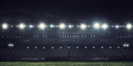 Estadio deportivo en luces