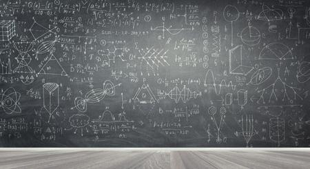 Chalkboard with formulas 스톡 콘텐츠