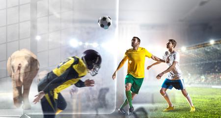 Football hottest moments. Mixed media