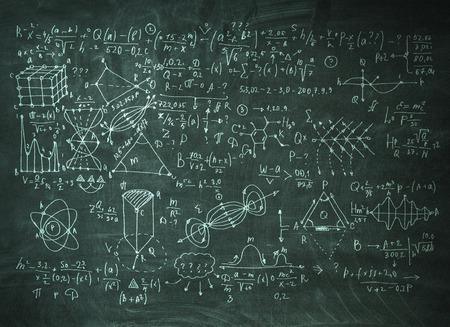 Chalkboard with formulas Banco de Imagens - 111197384