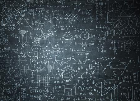 Chalkboard with formulas Banco de Imagens - 111505456