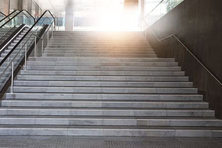 Staircase in the office building. Mixed media Standard-Bild - 111505469