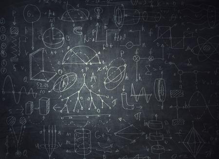 Chalkboard with formulas Banco de Imagens - 111507246