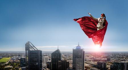 Super woman in sky