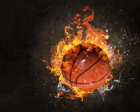 Basketbalspel concept