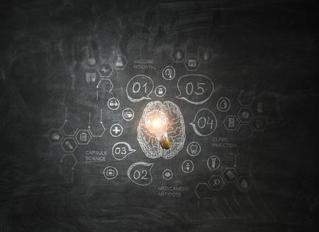 Chalkboard with formulas Banco de Imagens