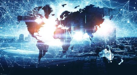 Modern international business 스톡 콘텐츠