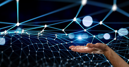 New technologies for connection. 3d rendering Stock Photo