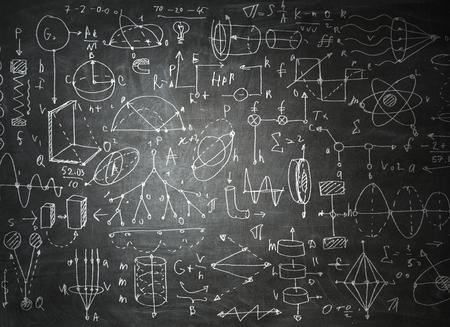 Chalkboard with formulas Banco de Imagens - 111509059