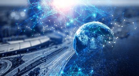 Nuove tecnologie per il tuo business. Rendering 3D Archivio Fotografico