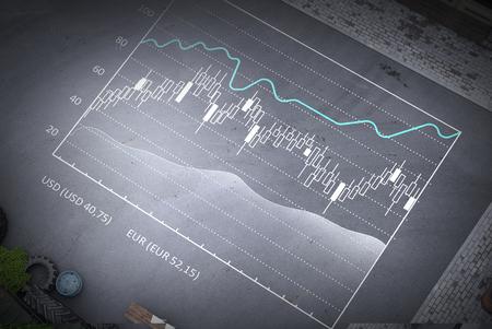 Concept of business statistics. Mixed media Banco de Imagens - 111576621