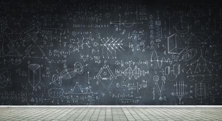 Chalkboard with formulas Banco de Imagens - 111665647