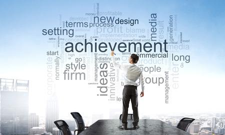Keywords for effective business concept. Mixed media Foto de archivo - 111863214
