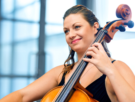 Woman playing cello