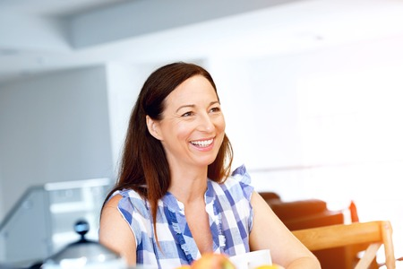 Beautiful woman at home indoors portrait