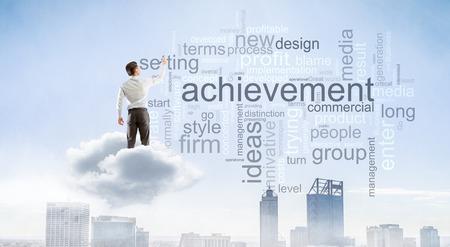 Keywords for effective business concept. Mixed media Banco de Imagens